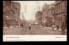 Victoria BC postcard of Government St. Posted 1911 Wellington Nanaimo,