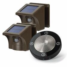Driveway Alarm Wireless 1 Receiver 2 Sensors 1/2 Mile Long Range Solar Detector