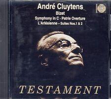 TESTAMENT CD SBT-1235 BIZET SYMPHONY C+ARLESIENNE SUITES+PATRIE OVER - CLUYTENS