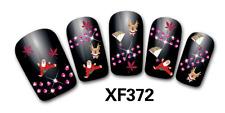 Nail art Stickers bijoux d'ongles: Pères Noel - flocons - reines - feuilles