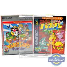 10 x Protectores de la caja del juego GameBoy & Color japonés Japón Grande 0.4mm Estuche de plástico