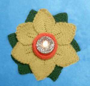 KNITTING PATTERN - Daffodil Tea Light Holder - Great Easter gift / Charity
