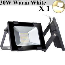 30W Watt LED Flood Light Warm White Outdoor Security Work Spotlight Lighting
