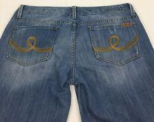 Seven7 Distressed Boot Cut Blue Jeans Women's  Size 31 Actual: 34x29