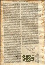 Stampa antica ERBARIO MATTIOLI MATTHIOLI SERPENTI snakers 1605 Old antique print