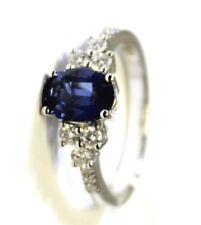 Anello oro bianco 18kt 750/°°° MIRCO VISCONTI con Zaffiro e Diamanti