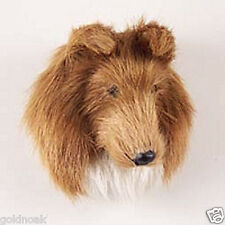 (1) COLLIE SABLE  DOG MAGNET! Very realistic collectible fur Magnets.