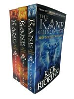 Rick Riordan The Kane Chronicles 3 Books Collection set Serpent's Shadow NEW