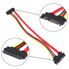 30CM 22P 7+15Pin M/F Serial ATA SATA Data Power Combo Extension Cable Jun21 Cord