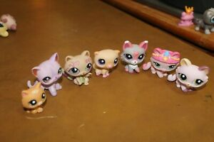 Littlest Pet Shop Lot of 7 Cats Authentic FREE SHIP  Lot # 30
