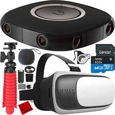Vuze VR Camera 3D 360 4K Video + Studio Software + Content Creator Bundle Black