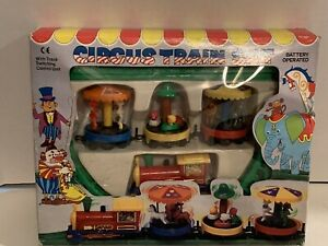 Vintage Battery Operated Circus Train Set Works Hong Kong Package Wear