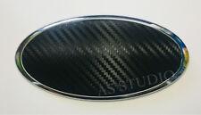 2x Folie 117x57mm Carbon schwarz passend für KIA 130x65mm Emblem viele Modelle