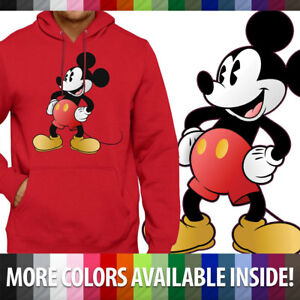 Classic Retro Original Disney Mickey Mouse Pullover Hoodie Jacket Hooded Sweater