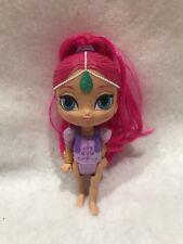 "Fisher-Price Shimmer & Shine Wishes Mini Doll 5"" Genie Pink Hair Purple Body"