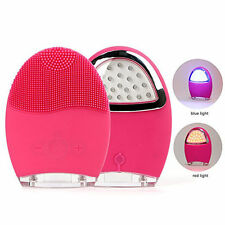 Silicone Electric Facial Cleansing Brush Face Skin Cleanser Massage Massager