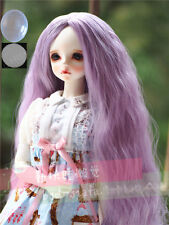 """8-9-10"""" 1/3 BJD Purple Long Curly Wavy Wig LUTS Doll SD DZ DOD MSD Pullip Hair #"""