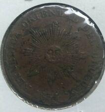 1854 Uruguay 20 Centesimos - Scarce Copper - Crudely Struck