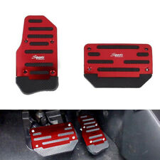 2x Non-Slip Brake Foot Pedal Cover Treadle Belt Car Automatic Accelerator RED