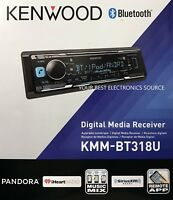 NEW Kenwood KMM-BT318U Single DIN Bluetooth AM/FM/Digital Media Car Stereo