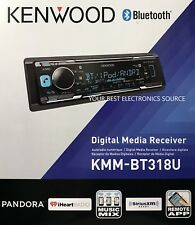 NEW Kenwood KMM-BT318U Single DIN Bluetooth AM/FM/Digital Media Car Stereo