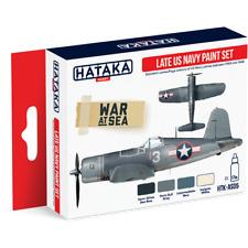 HATAKA AS05-Late US Navy 1943 a 1945 WW2 Set vernice acrilica - 4 x 17ml Bottiglie