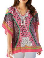 UK Size 10 12 14 16 18 20 22 24 26 28 Ladies Kimono Cover-up Paisley Kaftan Top