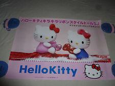 HELLO KITTY EIKOH PROMO POSTER SANRIO 2010 JAPAN IMPORT PINK RED BOWS SPARKLE >>