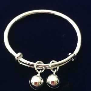 Silver baby bracelet, Toddler, baby bangle, gift, Infant BB bracelet, baby bangl