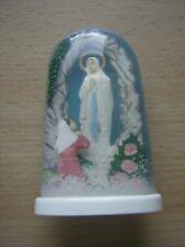 Schüttelglas - Schneekugel mit Madonna - Heiligenfigur - vintage