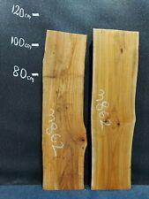 Waney Edge Live Edge Elm Slab Board Kiln Dried Hardwood 1070 x 260-310 x 50mm