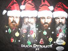 Boy's Duck Dynasty Black Long Sleeve Shirt Christmas Santa Hats 7 New with Tags