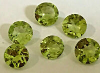 Peridot 6mm Round;  Natural, Untreated, Genuin, Best Quality [lot of 6 stones]