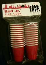 Red Jr. 2 oz. Red Disposable Cups 24 Pack BRAND NEW