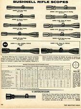 1975 Print Ad of Bushnell Banner Riflescope Rifle Scopes