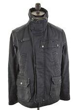 G-STAR Mens Military Jacket Size 38 Medium Black Cotton