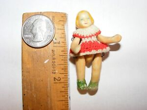 Antique tiny porcelain doll. Beautiful face. Carl Horn?