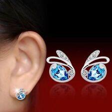 Women Rhinestone Crystal Rabbit Earrings Stud Charms Cute Cheap Jewelry