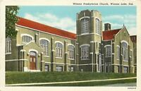 Winona Lake Indiana~Presbyterian Church~1930s Postcard