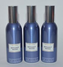 3 BATH & BODY WORKS BERGAMOT WATERS CONCENTRATED ROOM SPRAY PERFUME BLUE CAN