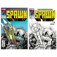 Spawn #226 Color & Sketch Variant Mexican Edition - Todd McFarlane!