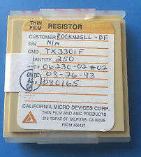 TX3301F CALIFORNIA MICRO DEVICES RESISTOR THIN FILM ASIC 250/units total