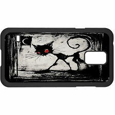 A Gothic Cat Red Eyes Hard Case Cover For Samsung New