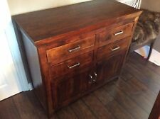 NEXT 'Bali' Solid Fruitwood, Hand Finished Storage Cupboard / Sideboard / Chest.