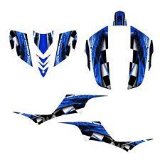 KFX 700 graphics Quad deco kit for Kawasaki KFX700 NO 2001 blue