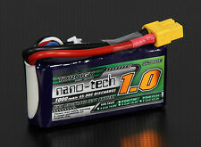 New Turnigy nano-tech 1000mAh 11.1v 3S 45C 90C Battery Lipo Pack XT60 XT-60 US
