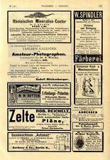 Rheinisches Mineralien-Contor Bonn Ichthyosaurus Erfindungs-Patenten Berlin 1891