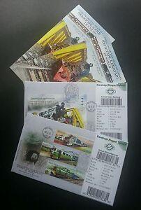Malaysia Sabah Transport Train 2015 Locomotive Railway (FDC pair) *Ticket *Rare