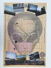 AREA 51,MAP AREA 51, RARE AUTHENTIC 2000 POSTER