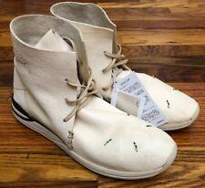 NWOB Visvim HURON Off White Leather Sz 10 MOC NO BOX HI FOLK RED DEER FBT